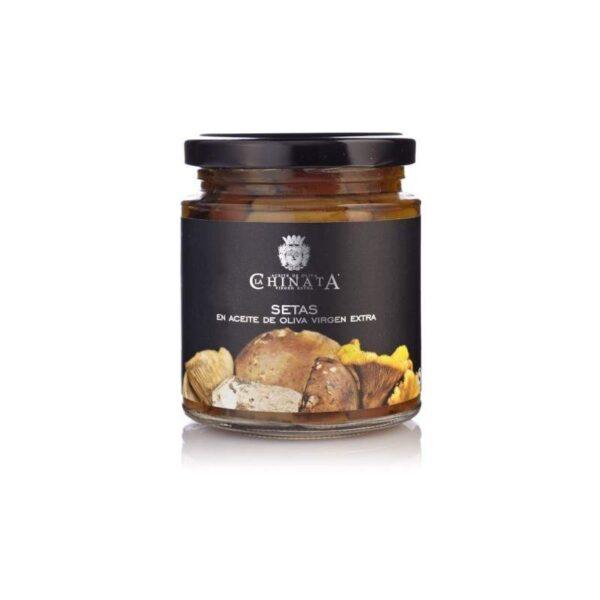 setas en aceite de oliva