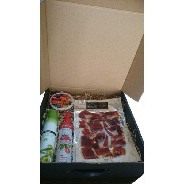 estuche regalo gourmet jamón ibérico