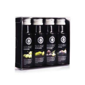 Estuche 4 aceites oliva virgen extra mini