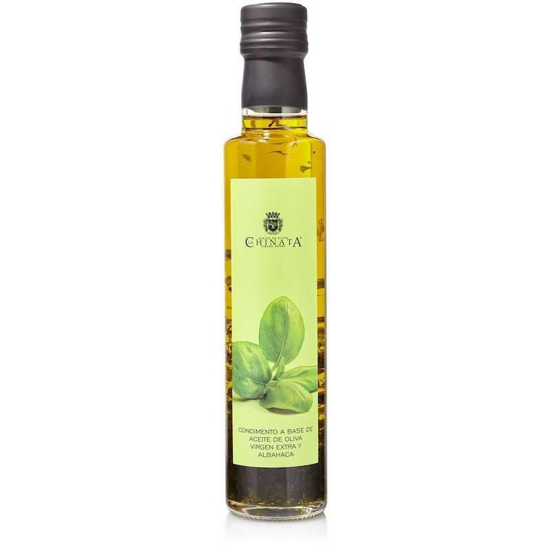aceite virgen extra aromatizado con albahaca