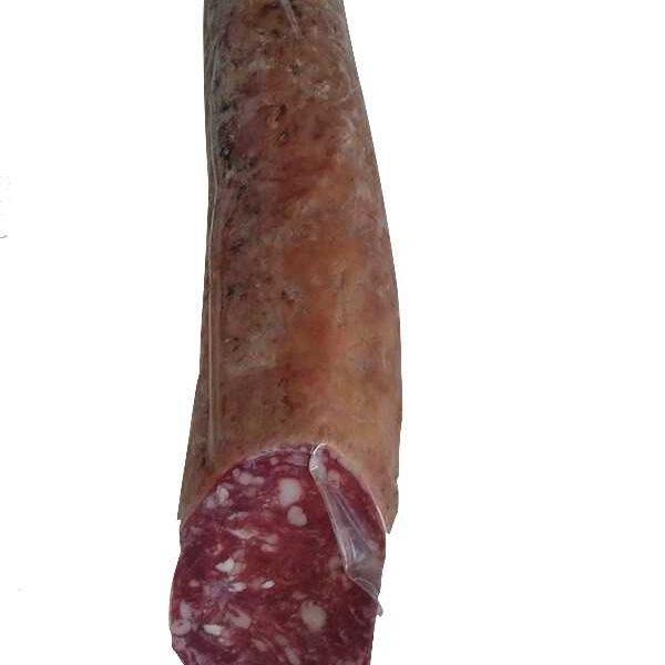salchichón ibérico de bellota en pieza de 600 grs.
