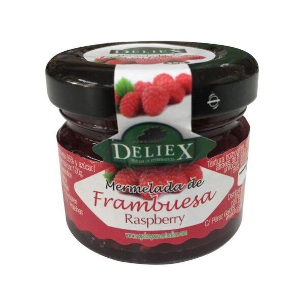 mermelada natural de frambuesa tarro 30 grs