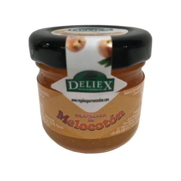 mermelada natural de melocotón 30 grs