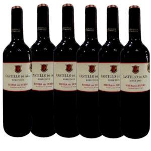 Lote 6 botellas vino castillo de aza