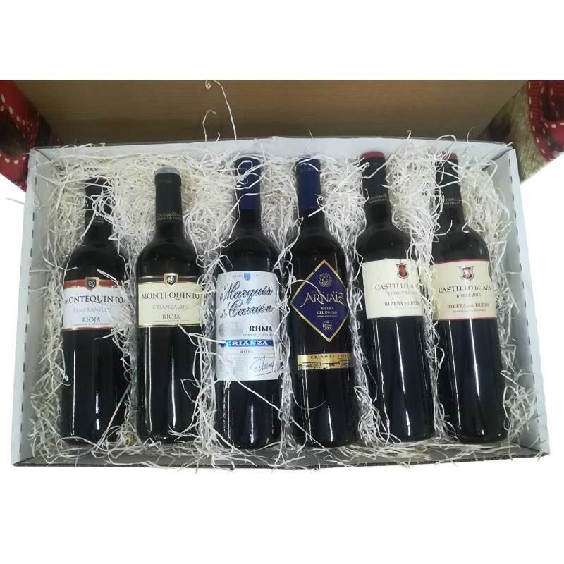 cesta navidad 6 botellas rioja y duero