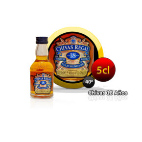 miniatura whisky chivas regal 18 años