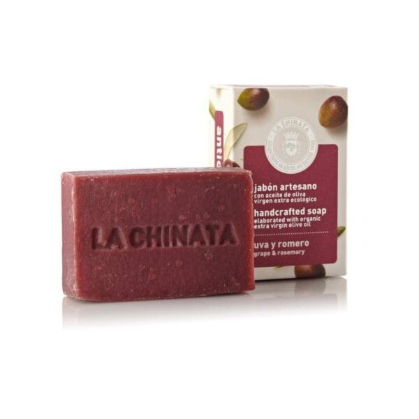 Jabón artesano antioxidante con uva y romero