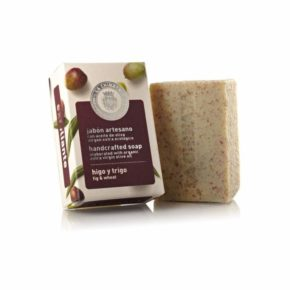 Jabón artesano exfoliante de higo y trigo