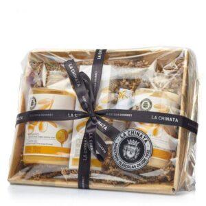Cesta de cosmética natural miel La Chinata