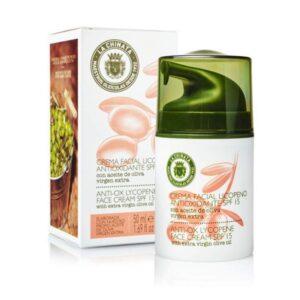 crema facial antioxidante con licopeno SPF15