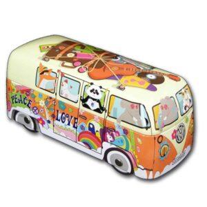 caja metal furgoneta hippie