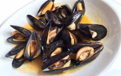 Clóchinas al Vapor,  receta de aperitivo