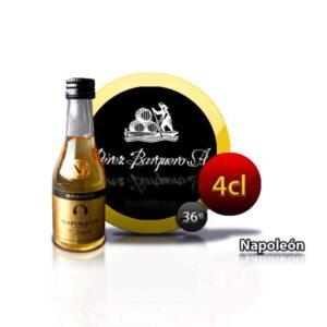 botellita miniatura de brandy Napoleón