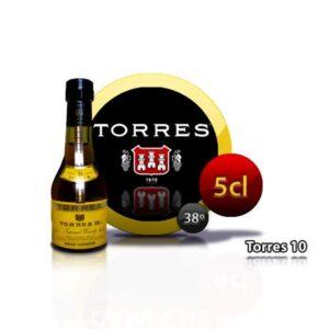 botellita miniatura brandy Torres 10