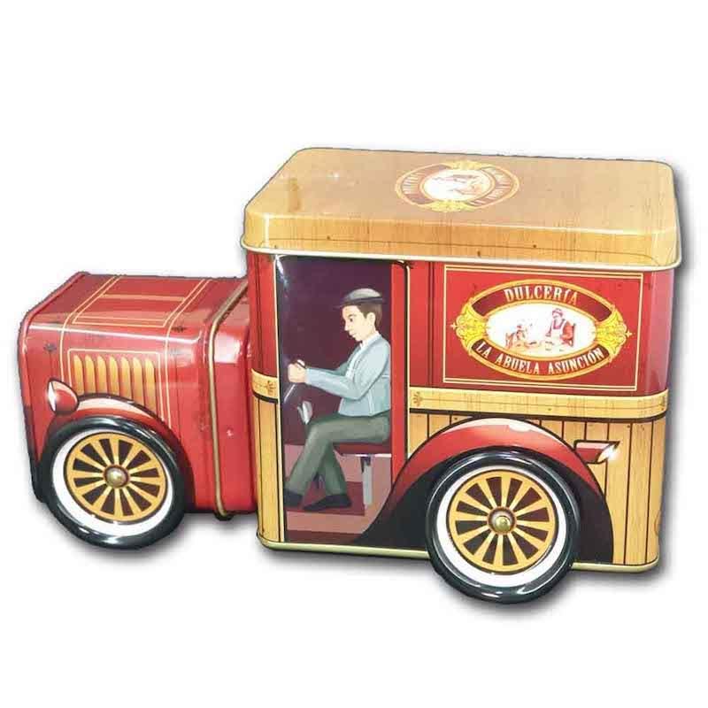 caja metalizada coche vintage para recuerdo