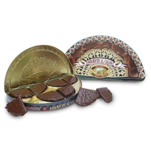 lata barquillos de chocolate