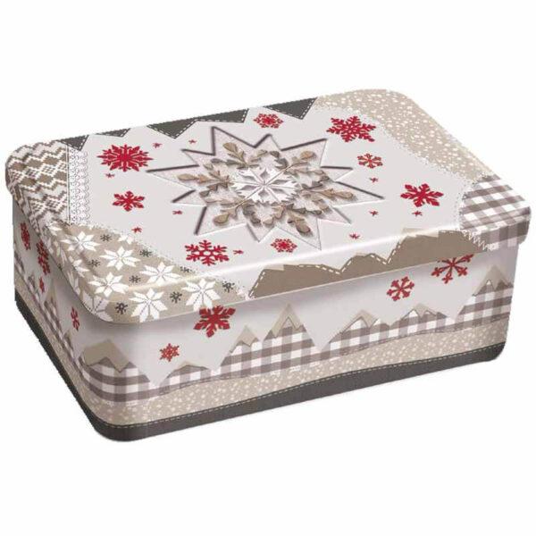 Caja de Navidad copo de nieve