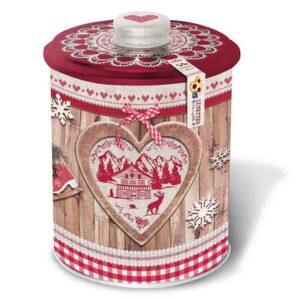 Caja Navidad roja con galletas