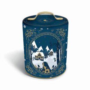 Caja de Navidad Azul con galletas de mantequilla