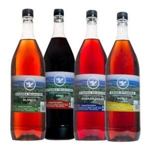 4 botellas vinos pitarra