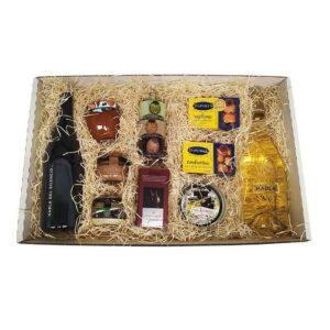 cesta navideña vinos Habla y productos gourmet