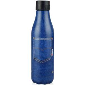botella isotérmica azul